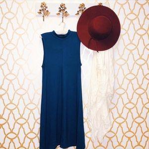 NWT Joan Vass Sleeveless Dress Navy